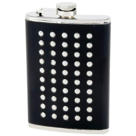 Maxam; 8oz Stainless Steel Flask With Black Wrap - KTFLSTD8