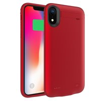 For iPhone Xr 4200mAh External Backup Power Bank Battery Charger Case Red