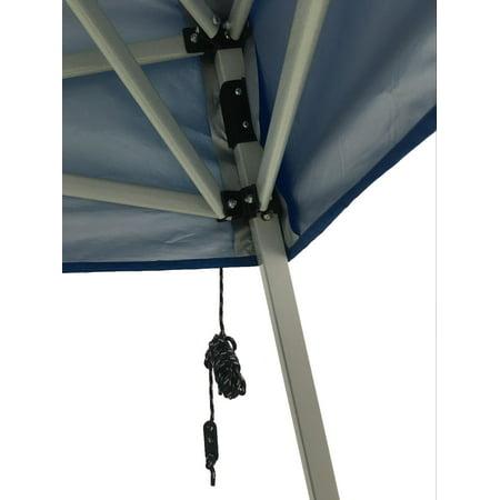 Ozark Trail 10'x10' Instant Slant Leg Canopy Outdoor Patio Folding Gazebo Canopy Shade Shelter, Blue