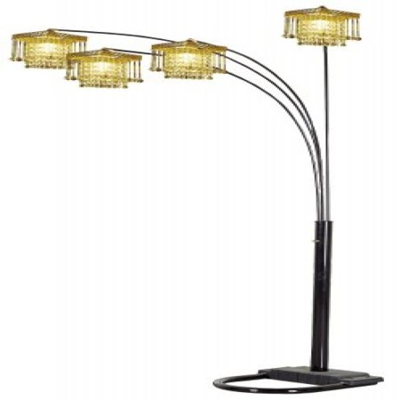 Ore International Four Arm Chandelier Style Floor Lamp