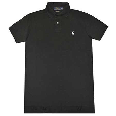 Polo Ralph Lauren Men Custom Fit Pima Stretch Mesh Polo Shirt  S  Black