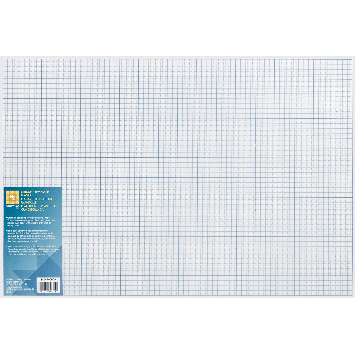"""Gridded Plastic Template - 12"""" x 18"""""""