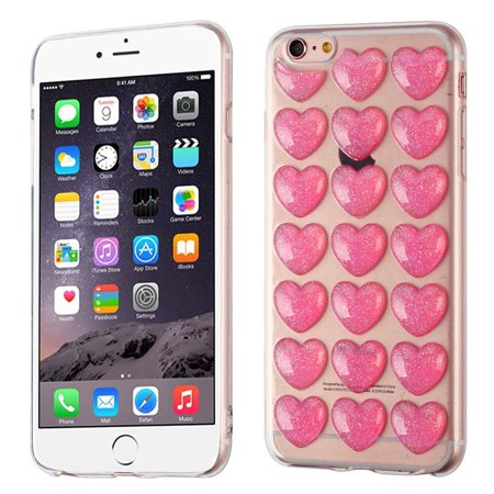 info for 777b4 d9467 iPhone 6s Plus Case, iPhone 6 Plus Case, by Insten Glitter Powder TPU  Rubber Candy Skin Case Cover for Apple iPhone 6 Plus/6s Plus - Pink