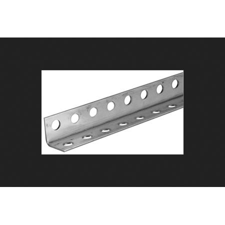 Boltmaster Perforated Angle 1-1/4 in. x 1-1/4 in. x 72 in. 12 Ga Garage Door or Opener Installation