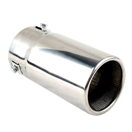 Car Muffler Tip – Stainless Steel to Give Chrome Effect – To Fit 1.5 to 2.5 inch Exhaust Pipe Diameter – Installation Clamps Included by Tritrust