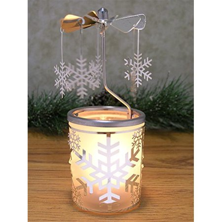 Snowflake Candle Holder - Spinning Snowflakes - Snowflake Candles