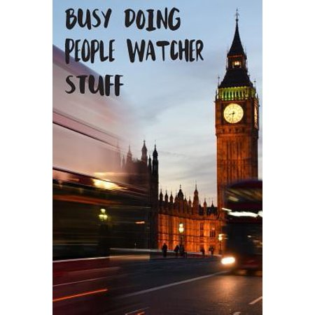 New England Patriots Gift Ideas (Busy Doing People Watcher Stuff : Big Ben In Downtown City London With Blurred Red Bus Transportation System Commuting in England Long-Exposure Road Blank Lined Notebook Journal Gift)