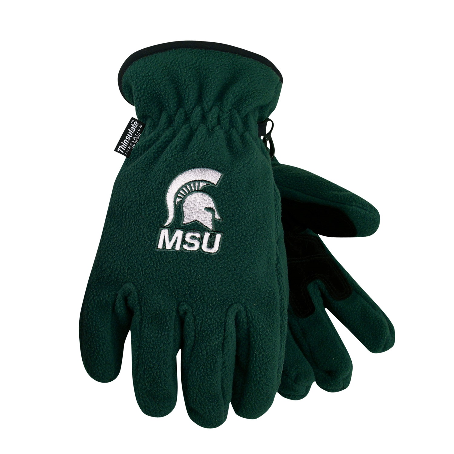 Michigan State University Heavy-Weight Fleece Gloves by