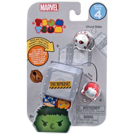 Marvel Tsum Tsum Series 4 Ghost Rider & Iron Patrot Minifigure 3-Pack