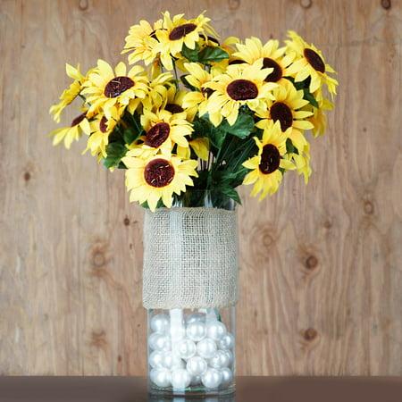 Yellow Sunflower Flowers (BalsaCircle Yellow 70 Silk Sunflowers - Artificial Flowers for Wedding Party Home Centerpieces Arrangements)