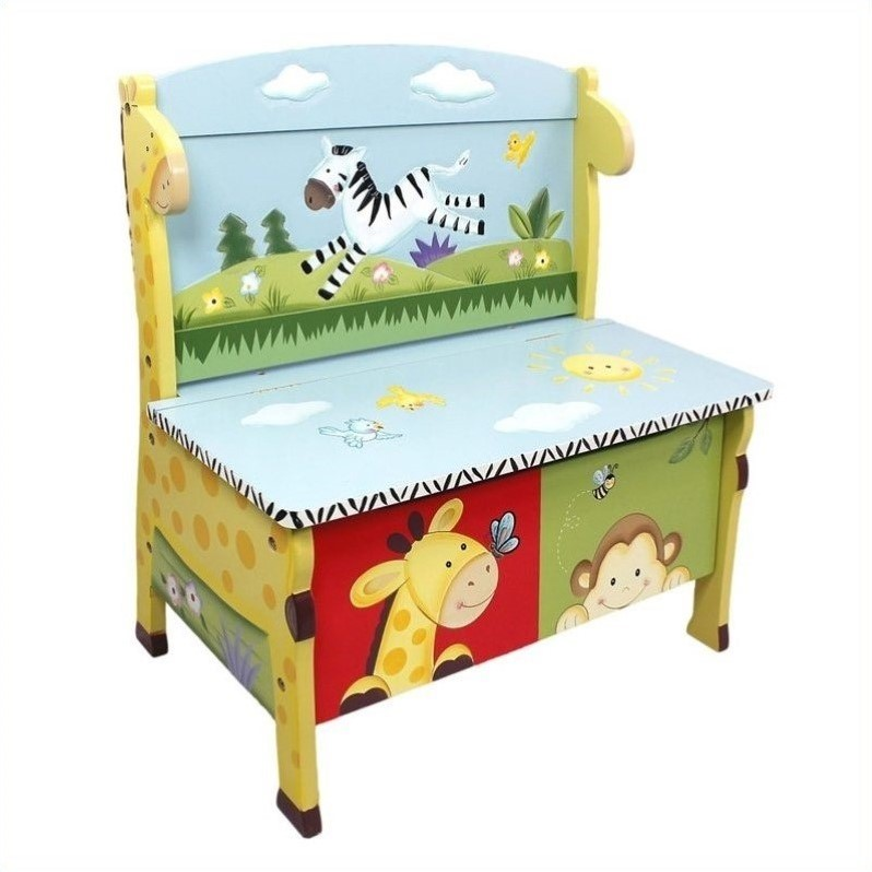 Fantasy Fields Sunny Safari Storage Bench by Teamson