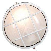 """Access Lighting Nauticus - 9.5"""" 9W 1 LED Outdoor Bulkhead, White Finish with Frosted Glass"""