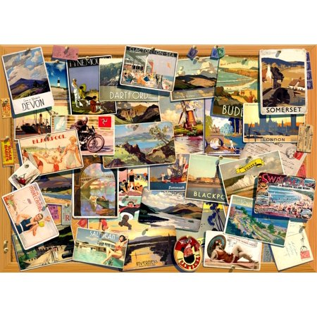 24 Art Postcards - Postcards Rolled Canvas Art - Andrew Farley (24 x 18)