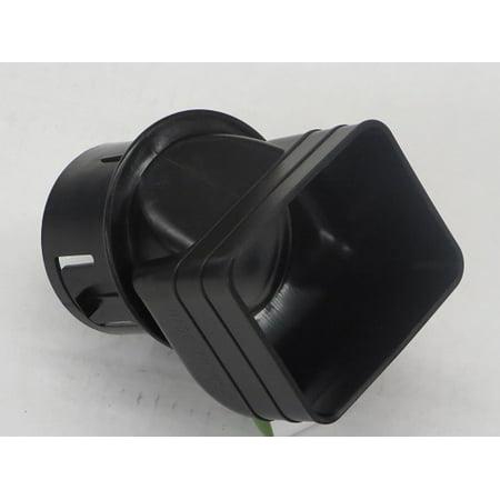 Drain Tile Pipe - Plastic Universal Downspout to Drain Tile Adapter (2X3X3 CASE(3), BLACK)