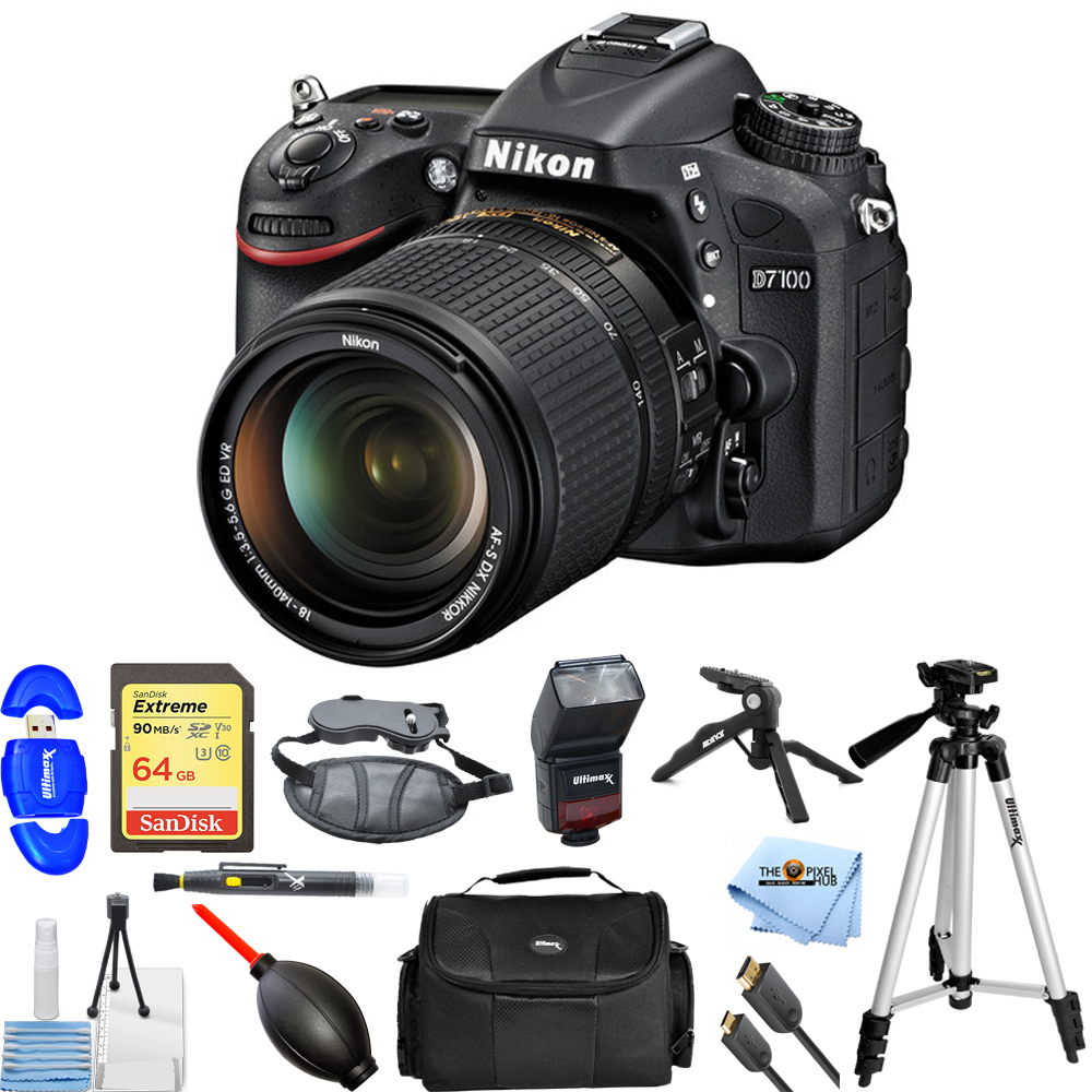 UNASSIGNED Nikon D7100 24.1MP DSLR Camera with 18-140mm L...