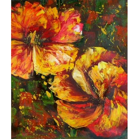 Hibiscus - A - H 36 x W 24(Stretched Canvas Art) - image 1 of 1
