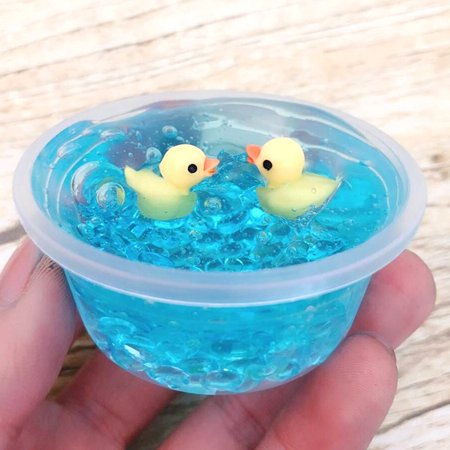 100ml Diy Yellow Duck Soft Slime Stress Relief Toy Crystal Mud Squishy Slow Rising Toy