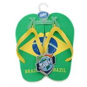 World of Sports Flip-Flops - Brazil - X-Large