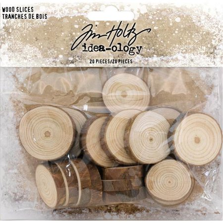 Idea-Ology Wood Slices 20/Pkg-Natural Raw Edge 1
