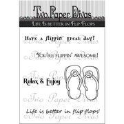 "Two Paper Divas Clear Stamps, 8.5"" x 4.5"""