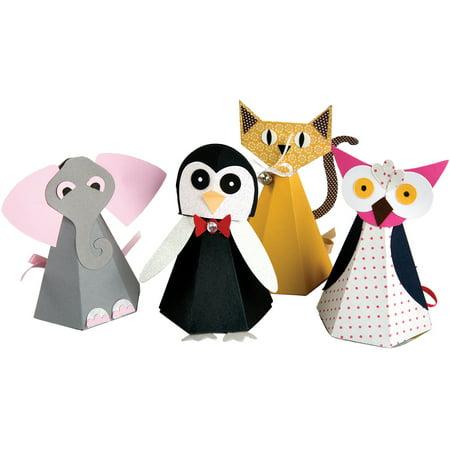 Sizzix Bigz Big Shot Pro Die By Lindsey Serata Cat  Elephant  Owl   Penguin Boxes