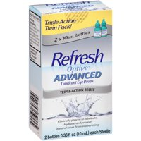 Refresh Optive Lubricant Eye Drops Advanced, 0.33 fl. oz. bottles 2 Pk