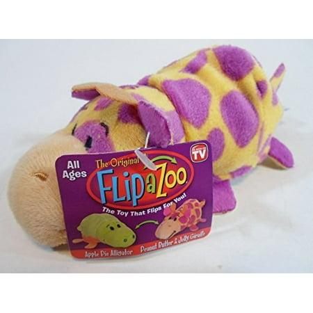 FlipaZoos Little FlipZee 5 Pocket Size Plush Figure - Apple Pie Alligator to Peanut Butter and Jelly Giraffe - Little Alligator