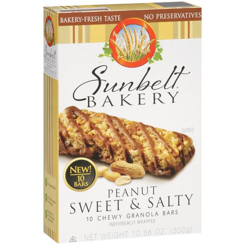 Sunbelt Bakery Peanut Sweet & Salty Chewy Granola Bars, 10 count