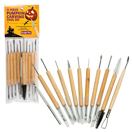 - Pumpkin Carving Tools- Halloween Sculpting Kit with 11 Double Sided Pieces (21 Tool Set) for Jack-O-Lanterns and More