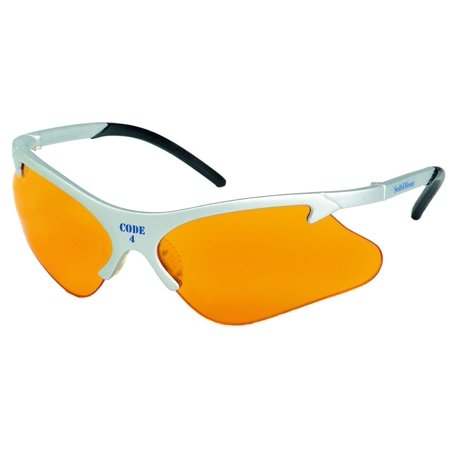 Jackson 3011689 KC 19835 Safety Glasses Code 4 Platinum Frame Orange Lens, 1 Pair, Price For: Each Photochromatic Lens: No X-Ray Detectable: No UV Protection: 99.9% Lens.., By Smith Wesson](Xray Glasses)