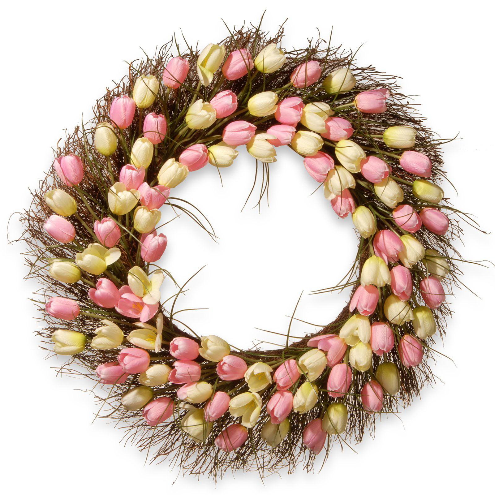 """32"""" Tulip Wreath"""