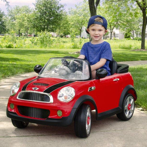 Rollplay 6 Volt Mini Cooper Ride On Toy Battery Powered Kid S Ride On Car Red Walmart Com Walmart Com