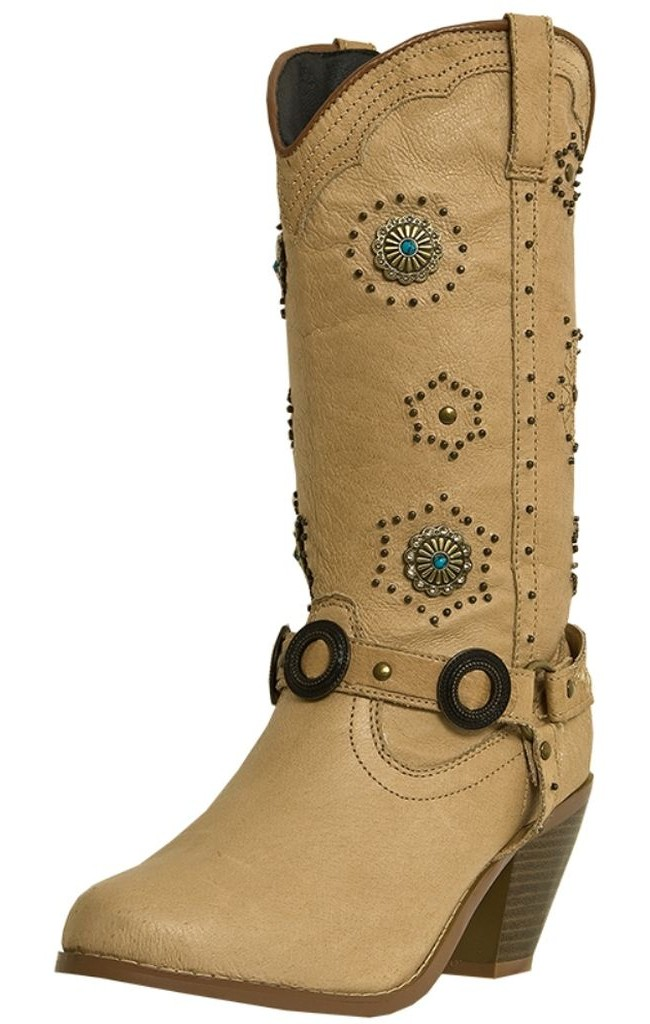 Dingo Fashion Boots Womens Addie Harness Pigskin Chestnut DI 566 by Dingo