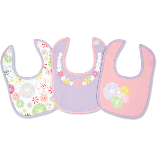 George Baby - Cotton Jersey Bibs 3-Pack, Floral