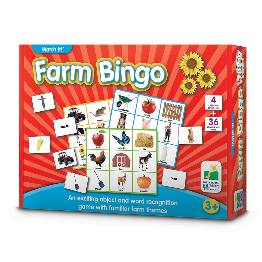 The Learning Journey Match It! Bingo, Farm by The Learning Journey International