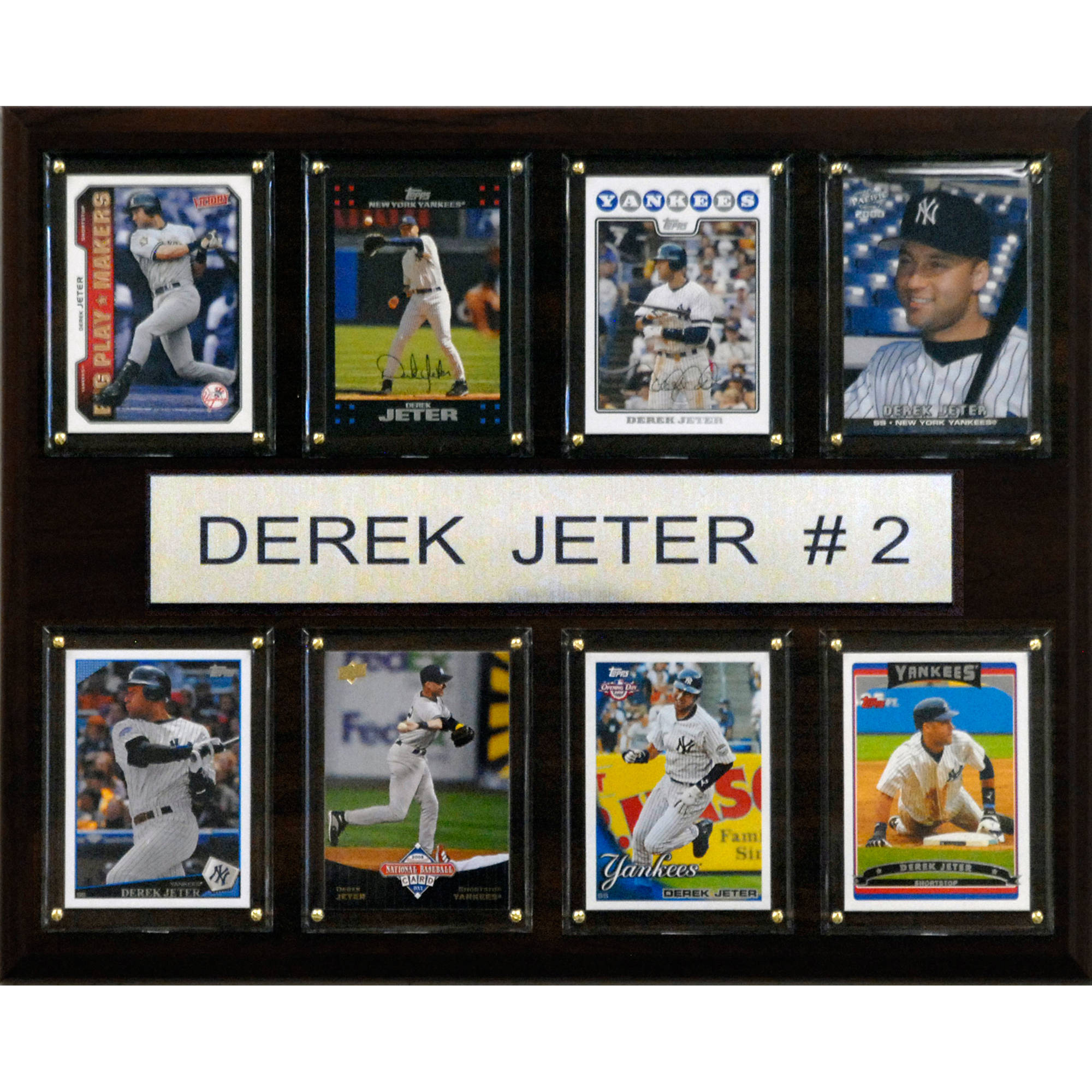 C&I Collectables MLB 12x15 Derek Jeter New York Yankees 8-Card Plaque