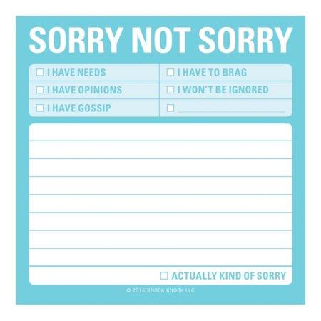 Sorry Not Sorry Sticky Note