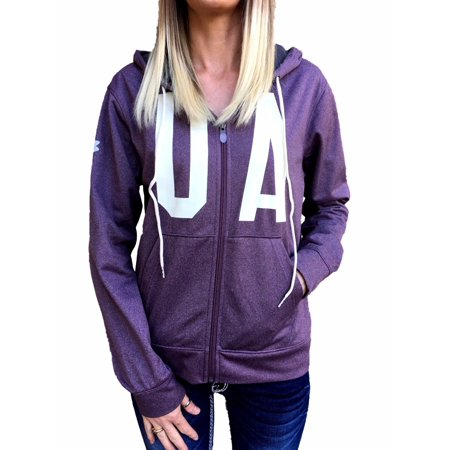 New Women's Under Armour Purple ColdGear Full Zip Hoodie Jacket S, M, - Under Armour Winter Gear