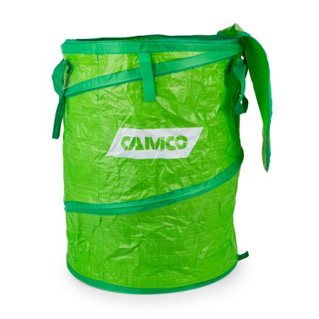Camco Large Collapsible Recycle Container with Zip to Close Lid - Simple Setup and Easy Storage, Great Reusable Recycle Bag, Perfect for Camping, Cookouts, and Outdoor Events 18 x 24 (42983) Rv Storage Shelter