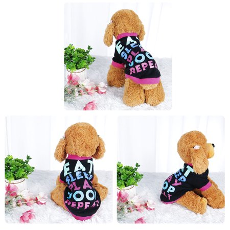 Dog T Shirt Puppy Small Pet Sweatshirt Tops Clothes Apparel Vest Clothing #3 XS - image 3 of 7