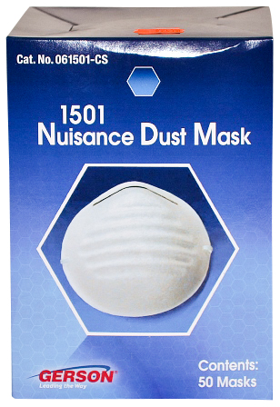 1501 Nuisance Dust Mask 300 Masks Gerson Brand MS-92510 by