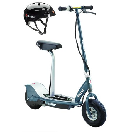 Razor e300s seated electric 24v scooter gray youth for Razor e300 electric 24 volt motorized ride on kids scooter
