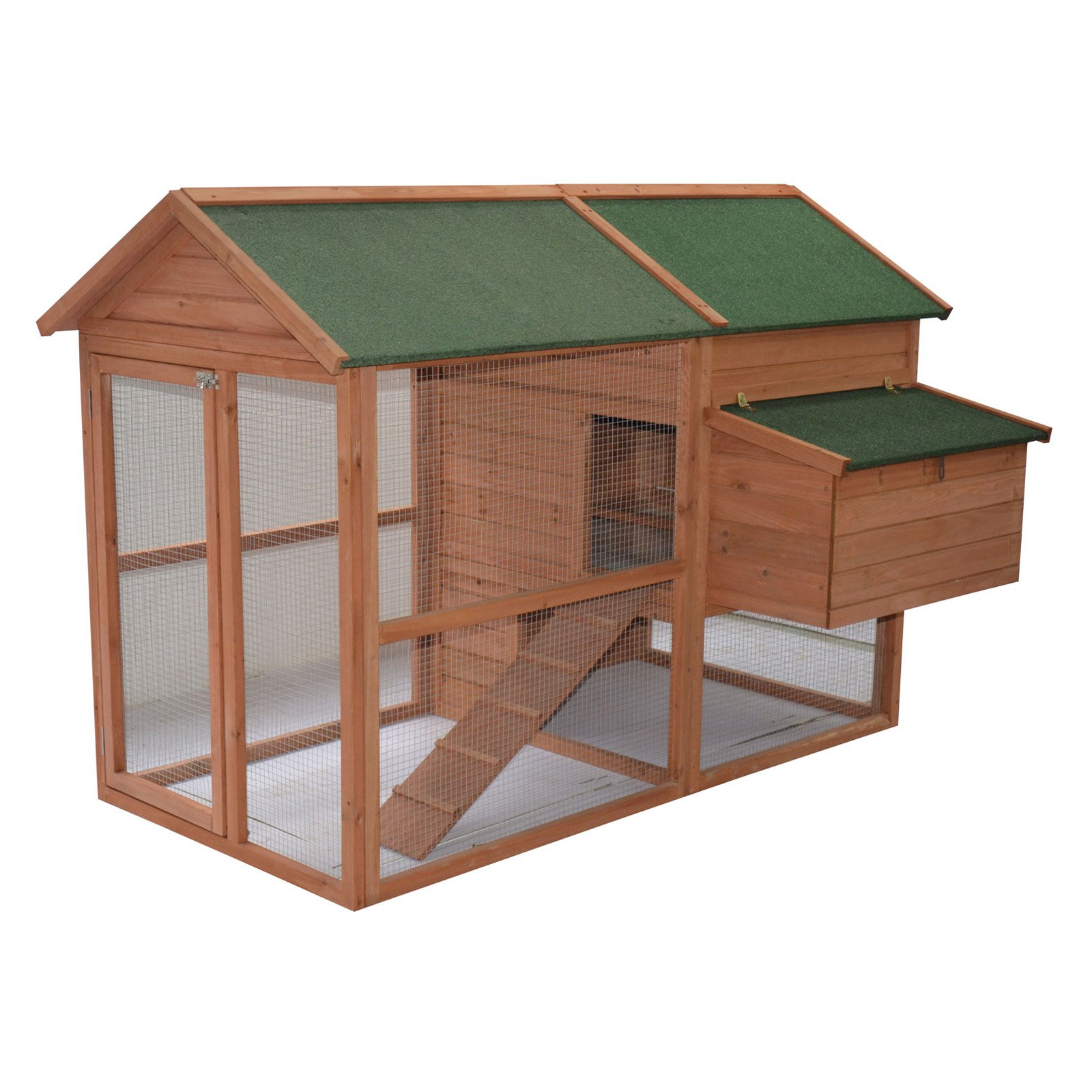 Pawhut Hen House Wooden Backyard Chicken Coop