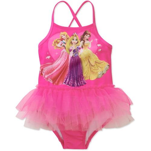 Disney Baby Girls' Princess Ruffle Swimsuit