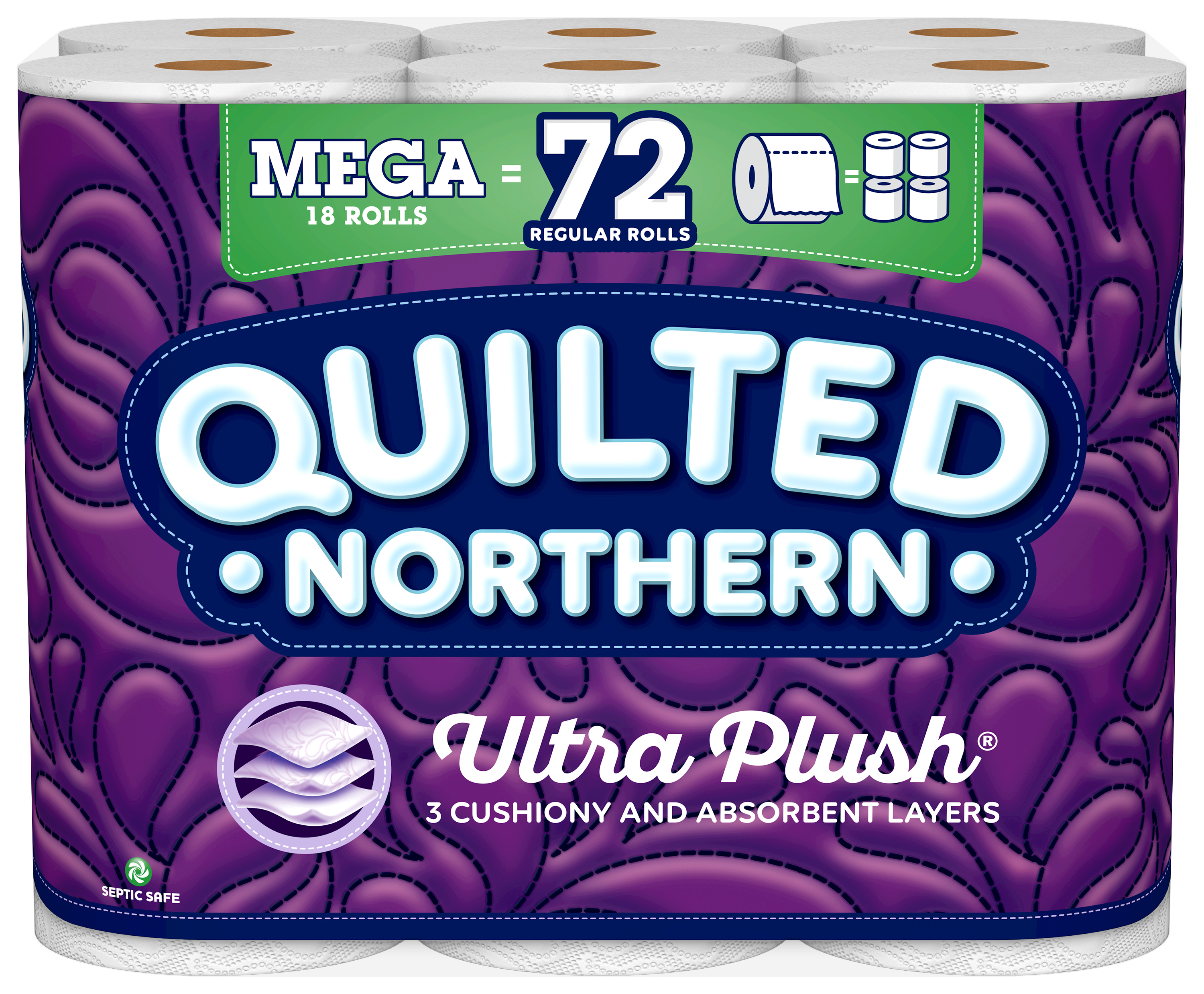 Quilted Northern Ultra Plush, 18 Mega Rolls, Toilet Paper by Georgia Pacific NA Consumer Prod