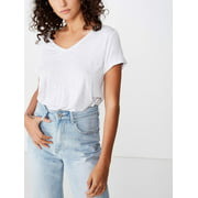 Cotton On Juniors' Karly Short Sleeve V Neck Top