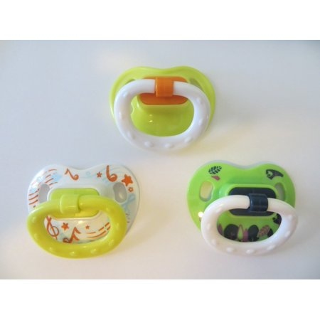3 Pacifiers UNISEX Set Reusable Putty (Designs WILL Differ from Picture- Varied) NOT Magnetic AGES 8 YRS+ By Reborn Ship from US