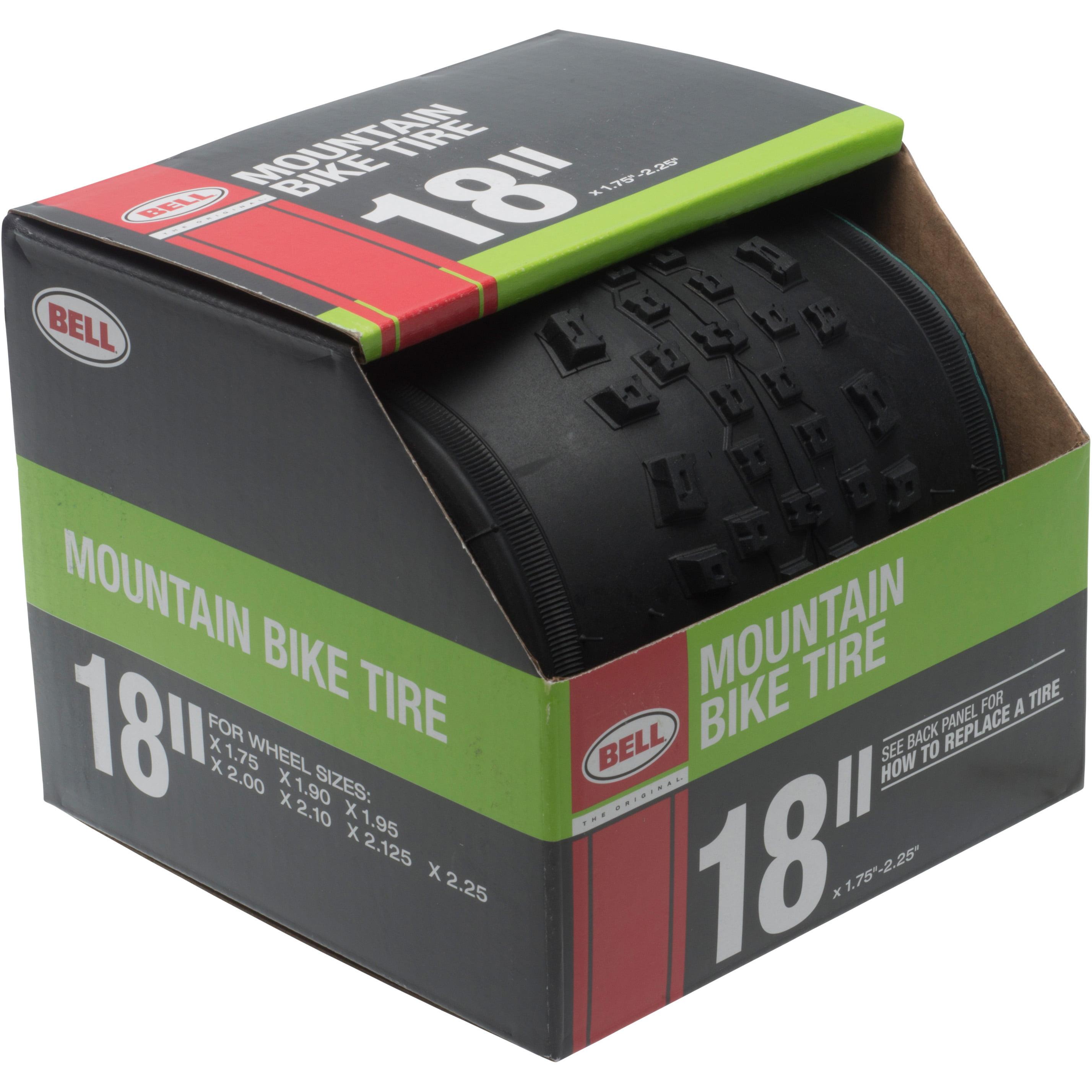 "Bell Sports Standard Mountain Bike Tire, 18"" x 1.75-2.125"", Black"
