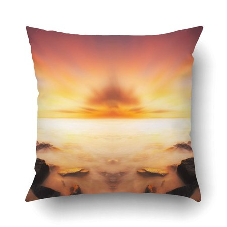 BOSDECO Scenery Of Sunset Beach Borneo Image Have Soft Color Effect Fantasy Look Warmer Pillowcase Pillow Cushion Cover 16x16 inch - image 1 of 1