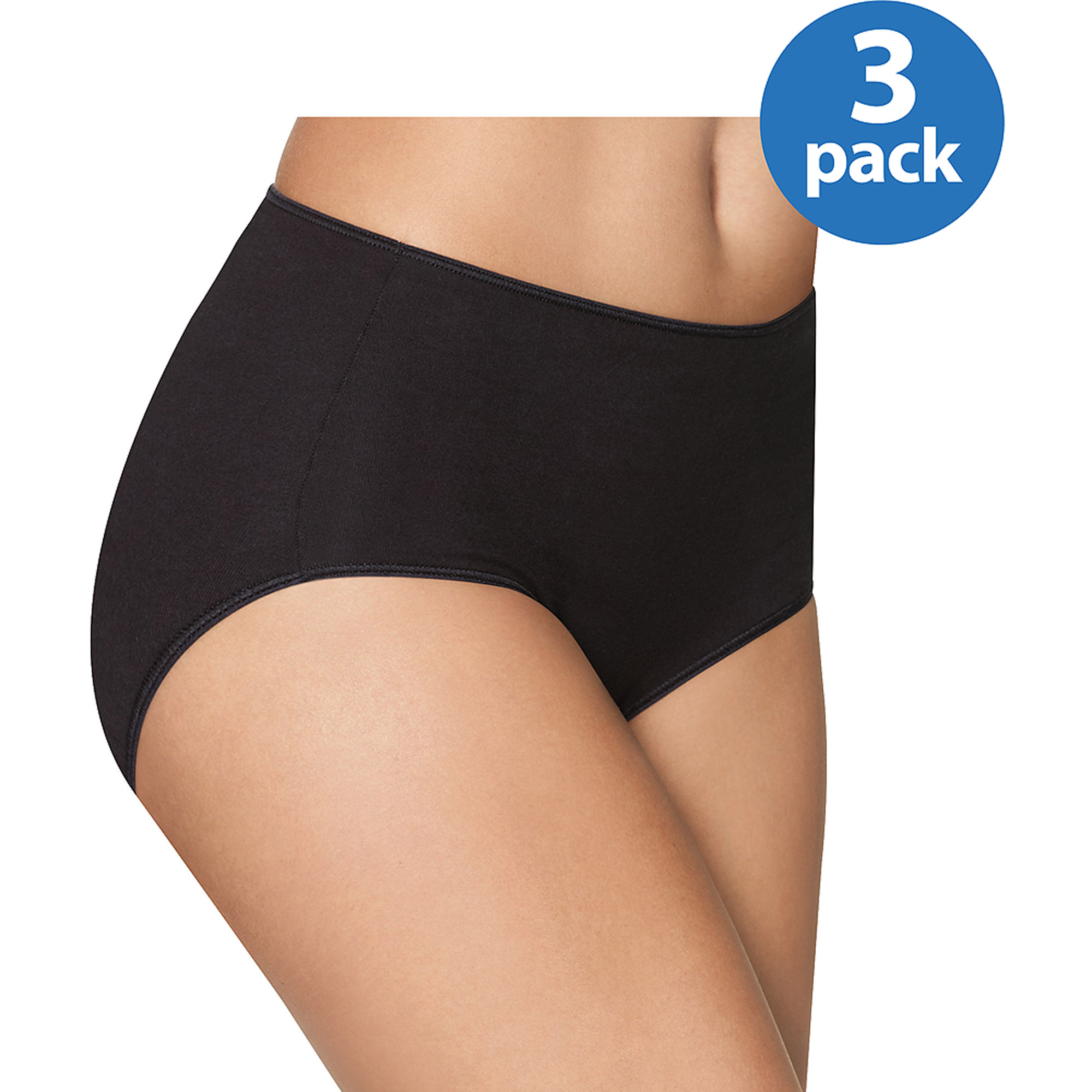 Hanes Women's Smooth Illusions Brief Panties 3 Pack